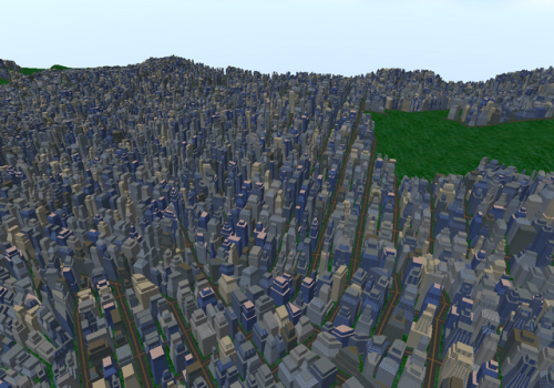 PCity - Procedural Modeling and Rendering of Cities